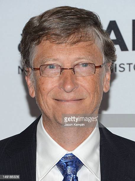 Bill Gates attends Together To End AIDS An Evening To Benefit amfAR and GBCHealth at John F Kennedy Center for the Performing Arts on July 21 2012 in...