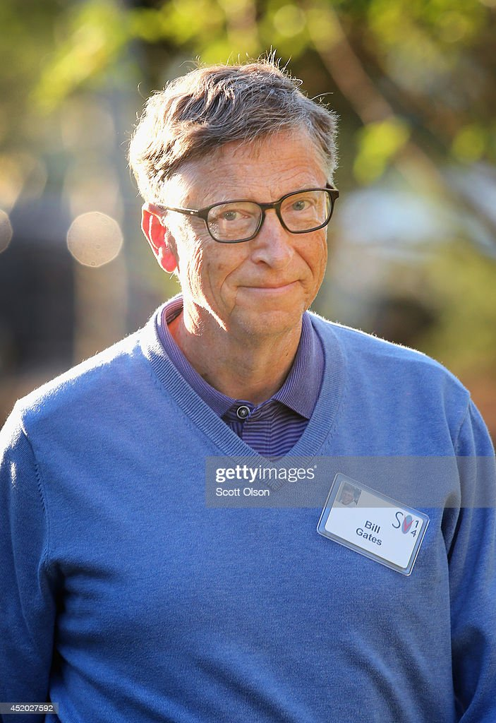 <a gi-track='captionPersonalityLinkClicked' href=/galleries/search?phrase=Bill+Gates&family=editorial&specificpeople=202049 ng-click='$event.stopPropagation()'>Bill Gates</a>, chairman and founder of Microsoft Corp., attends the Allen & Company Sun Valley Conference on July 11, 2014 in Sun Valley, Idaho. Many of the world's wealthiest and most powerful executives from media, finance, and technology attend the annual week-long conference which is in its 32nd year.