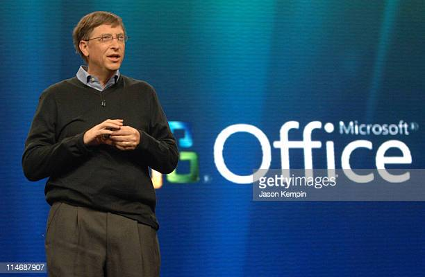 Bill Gates during Bill Gates Keynotes The Launch Of Microsoft Windows Vista Operating System January 29 2007 at Windows Vista Theatre in New York...