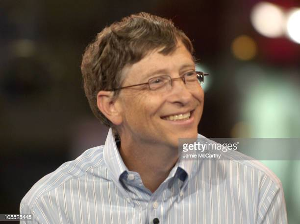 Bill Gates during Bill Gates Visits MTV Studios for the MTV News Special 'Notorious BG' at MTV Studios Times Square in New York City New York United...
