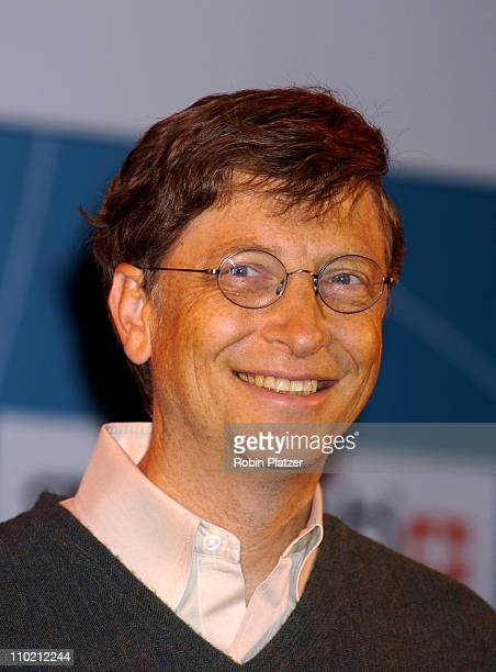 Bill Gates during Swatch and Microsoft Announce New Swatch Watch Line 'Paparazzi' at The Supper Club in New York New York United States