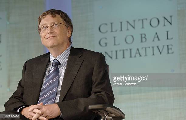 Bill Gates during the 'Effective Action lasting Results' Panal Discussion on the first day of the Clinton Global Initiative 2006 on Wednesday...