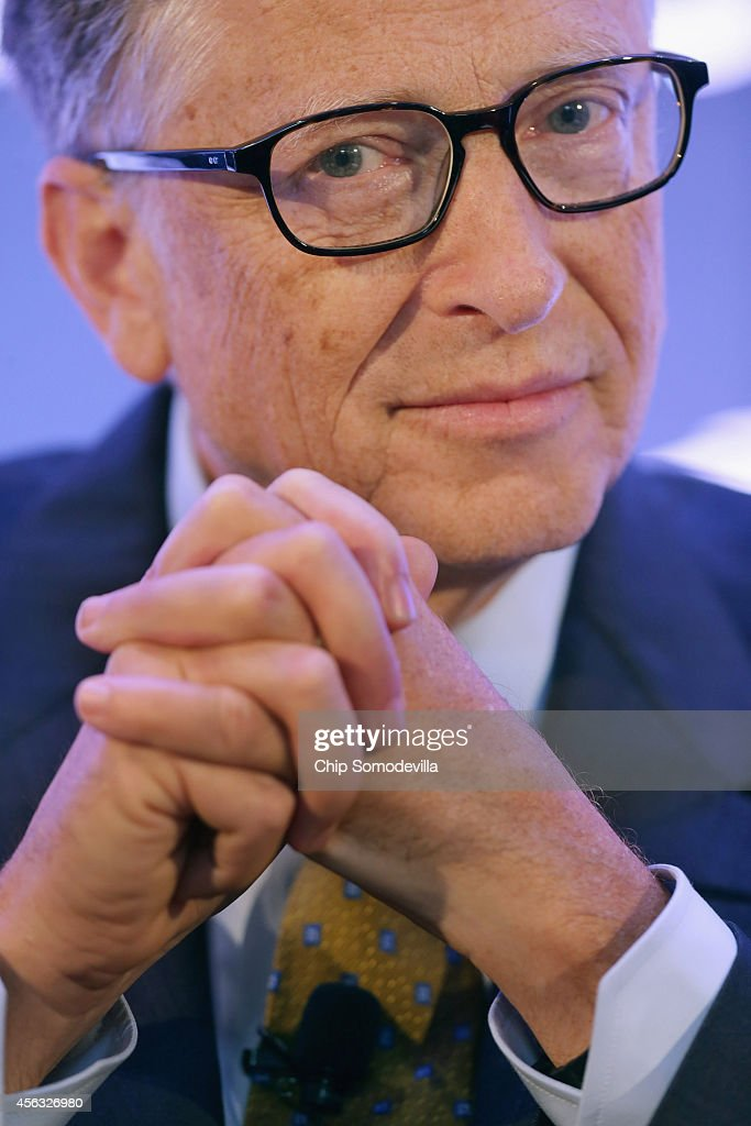 <a gi-track='captionPersonalityLinkClicked' href=/galleries/search?phrase=Bill+Gates&family=editorial&specificpeople=202049 ng-click='$event.stopPropagation()'>Bill Gates</a>, founder of Microsoft and co-chair of the Bill and Melinda Gates Foundation, talks about the Ebola crisis in West Africa during the Politico 'Lessons from Leaders' series at the Bank of America offices September 29, 2014 in Washington, DC. Gates talked about how his foundation's work to erradicate polio in Nigeria has been helpful in starting to combat the Ebola epidemic in Liberia, Guinea and Sierra Leone, which is the largest outbreak ever recorded.