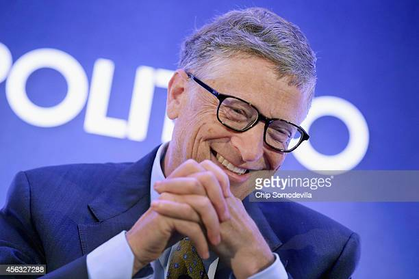 Bill Gates founder of Microsoft and cochair of the Bill and Melinda Gates Foundation talks about the Ebola crisis in West Africa during the Politico...