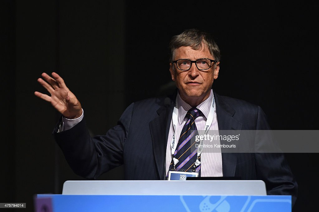 Bill Gates speaks during the Forbes' 2015 Philanthropy Summit Awards Dinner on June 3, 2015 in New York City.