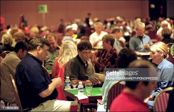 Bill Gates takes part in Montreal Bridge championship In Montreal Canada On August 19 2002