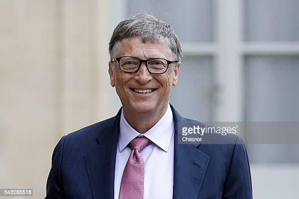 Bill Gates the coFounder of the Microsoft company and coFounder of the Bill and Melinda Gates Foundation makes a statement after his meeting with...