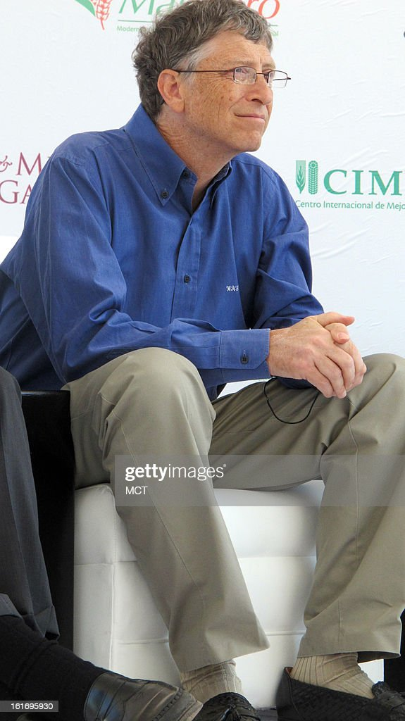 Bill Gates, the Microsoft co-founder and renowned philanthropist, appears at an event in Texcoco, Mexico, on February 13, 2013.