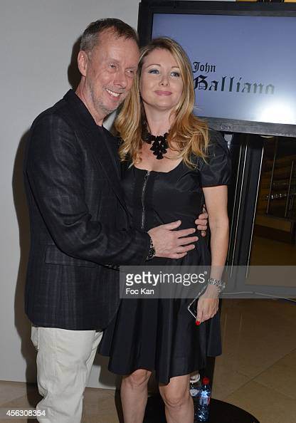 Bill Gaytten and Angela Melillo attend the John Galliano show as part of the Paris Fashion Week Womenswear Spring/Summer 2015 John Galliano Runway...