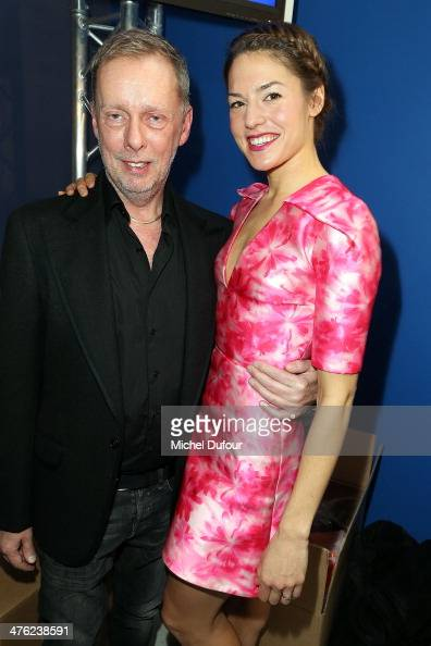 Bill Gaytten and Natasha Andrews pose after the John Galliano show as part of the Paris Fashion Week Womenswear Fall/Winter 20142015 on March 2 2014...