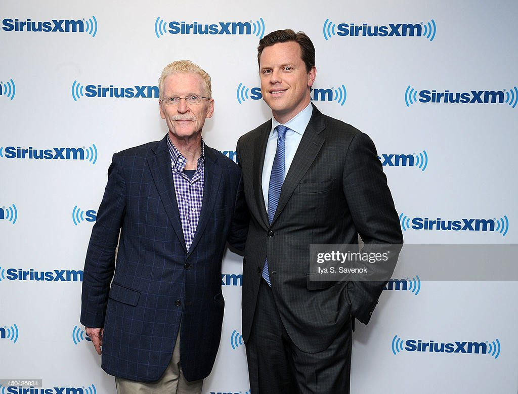 Bill Geist and Willie Geist visit the SiriusXM Studios on June 11, 2014 in New York City.