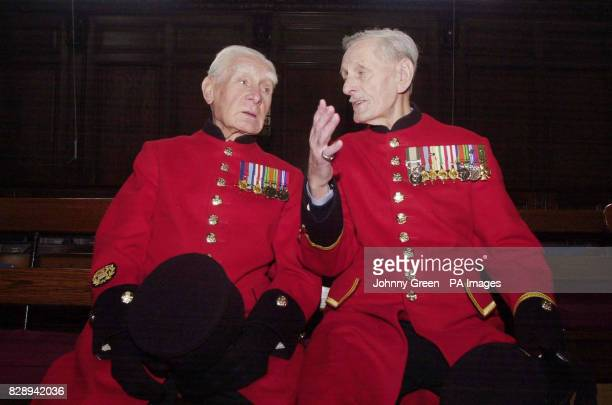 Bill Germanes from Hackney in northeast London and who served as a Sergeant during the Second World War talks to fellow veteran Charlie Hackney...