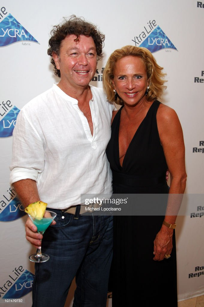 Bill Ghitis and Lenny Niemeyer during Sunglass Hut Swim Shows Miami Presented by LYCRA - VIP Lounge - Day 3 at Raleigh Hotel in Miami Beach, Florida, United States.