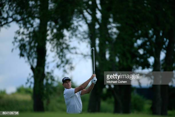Bill Glasson hits a shot during the second round of the American Family Insurance Championship held at University Ridge Golf Course on June 24 2017...