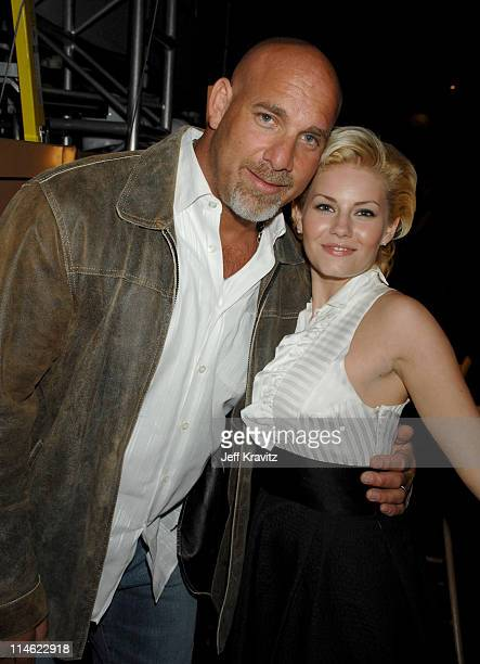 Bill Goldberg and Elisha Cuthbert during First Annual Spike TV's Guys Choice Backstage and Audience at Radford Studios in Los Angeles California...
