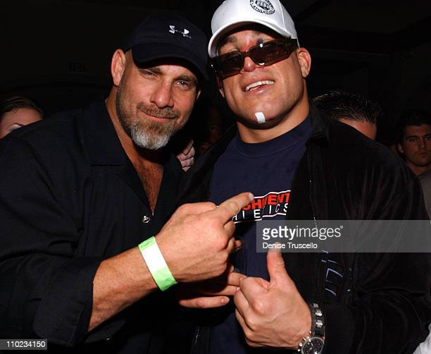 Bill Goldberg and Tito Ortiz during Tito Ortiz Official Ultimate Fighting After Party at Curve Nightclub In The Aladdin Hotel and Casino Resort in...