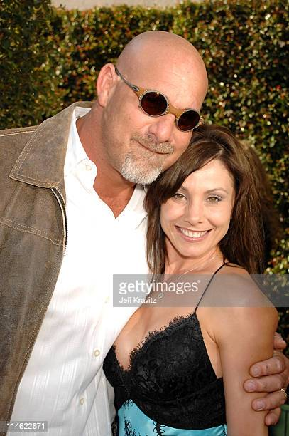 Bill Goldberg and Wanda Ferraton during First Annual Spike TV's Guys Choice Red Carpet at Radford Studios in Los Angeles California United States