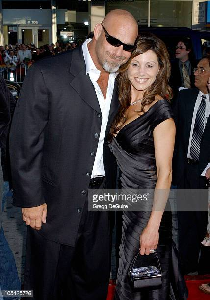 Bill Goldberg and wife Wanda during 'The Longest Yard' Los Angeles Premiere Arrivals at Grauman's Chinese Theatre in Hollywood California United...