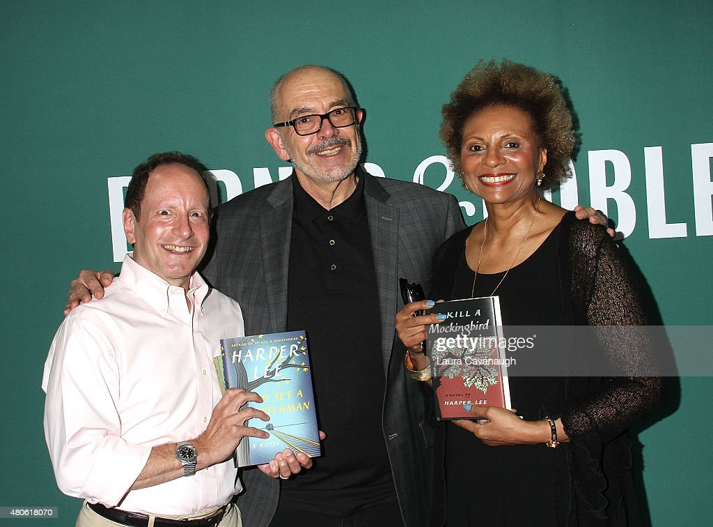 Bill Goldstein, Wally Lamb and Leslie Uggams attend Harper Lee celebration at Barnes & Noble Union Square on July 13, 2015 in New York City.