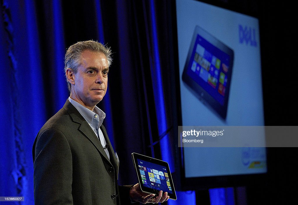 Bill Gorden, executive director of end user computer for Dell Inc., speaks during an event in San Francisco, California, U.S., on Thursday, Sept. 27, 2012. Intel Corp.'s delayed delivery of software that conserves computer battery life is holding up the development of some tablets running the latest version of Microsoft Corp.'s flagship Windows operating system, a person with knowledge of the matter said. Photographer: David Paul Morris/Bloomberg via Getty Images