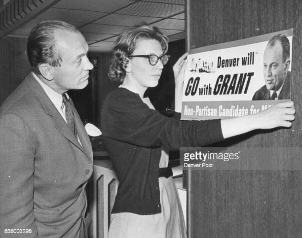 Bill Grant watches as daughter Melanie removes campaign sign Its prophecy was wrong as he took third place and was out of the runoff election Credit...