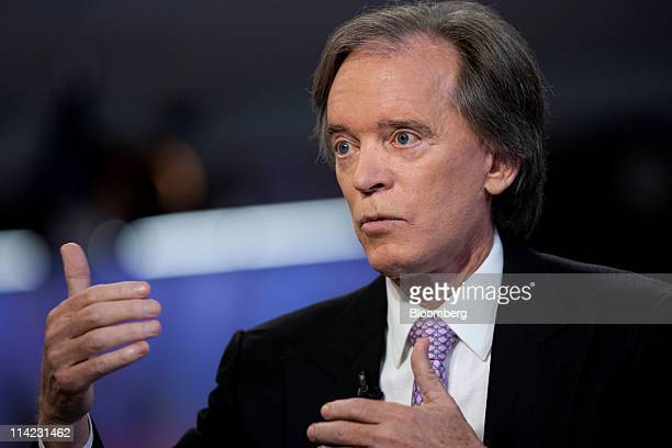 Bill Gross cochief investment officer of Pacific Investment Management Co speaks during an interview in New York US on Monday May 16 2011 Treasury...