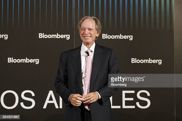 Bill Gross cofounder of Pacific Investment Management Co smiles during the Bloomberg FI16 event in Beverly Hills California US on Wednesday May 25...