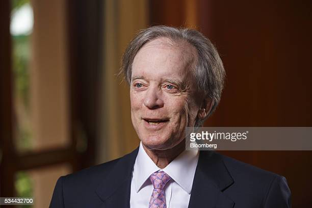 Bill Gross cofounder of Pacific Investment Management Co speaks during a Bloomberg Television interview at the Bloomberg FI16 event in Beverly Hills...