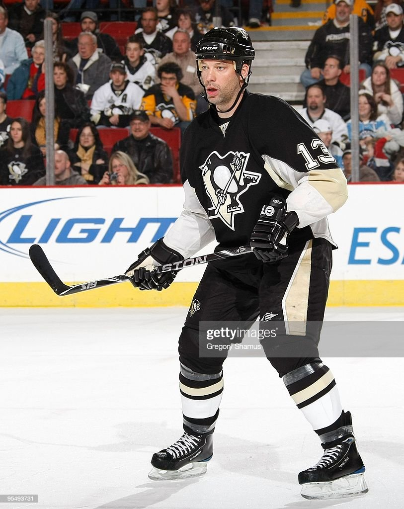 Bill Guerin of the Pittsburgh Penguins skates against the Ottawa Senators on December 23 2009 at the Mellon Arena in Pittsburgh Pennsylvania