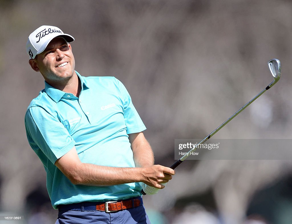 <a gi-track='captionPersonalityLinkClicked' href=/galleries/search?phrase=Bill+Haas&family=editorial&specificpeople=646978 ng-click='$event.stopPropagation()'>Bill Haas</a> hits a second shot on the 13th hole during the third round of the Northern Trust Open at the Riviera Country Club on February 16, 2013 in Pacific Palisades, California.