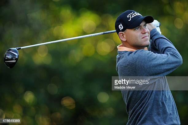 Bill Haas hits a tee shot on the 11th hole during the second round of the Valspar Championship at Innisbrook Resort and Golf Club on March 14 2014 in...