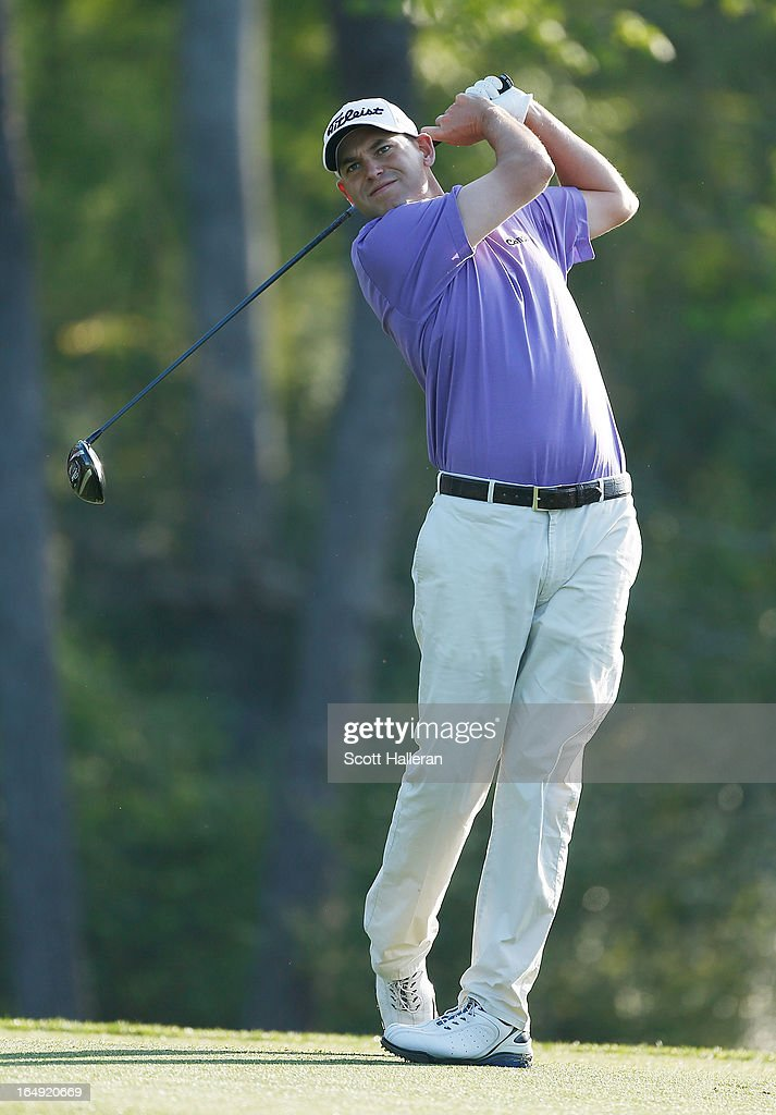<a gi-track='captionPersonalityLinkClicked' href=/galleries/search?phrase=Bill+Haas&family=editorial&specificpeople=646978 ng-click='$event.stopPropagation()'>Bill Haas</a> hits his tee shot on the 13th hole during the second round of the Shell Houston Open at the Redstone Golf Club on March 29, 2013 in Humble, Texas.