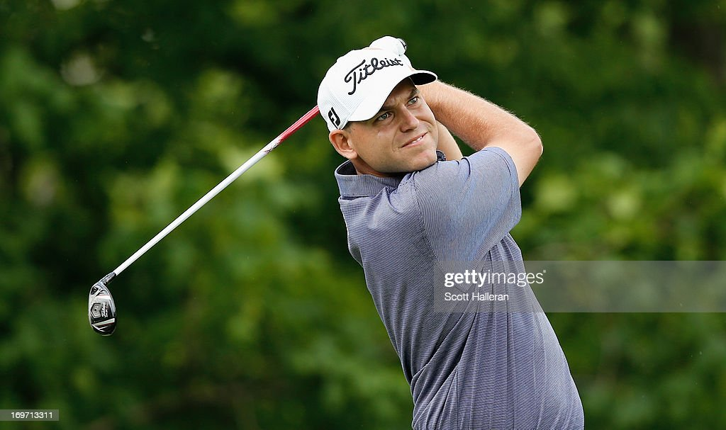 <a gi-track='captionPersonalityLinkClicked' href=/galleries/search?phrase=Bill+Haas&family=editorial&specificpeople=646978 ng-click='$event.stopPropagation()'>Bill Haas</a> hits his tee shot on the 14th hole during the second round of the Memorial Tournament presented by Nationwide Insurance at Muirfield Village Golf Club on May 31, 2013 in Dublin, Ohio.