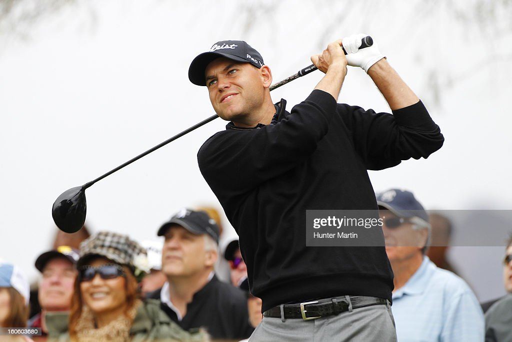 Bill Haas hits his tee shot on the third hole during the final round of the Waste Management Phoenix Open at TPC Scottsdale on February 3, 2013 in Scottsdale, Arizona.