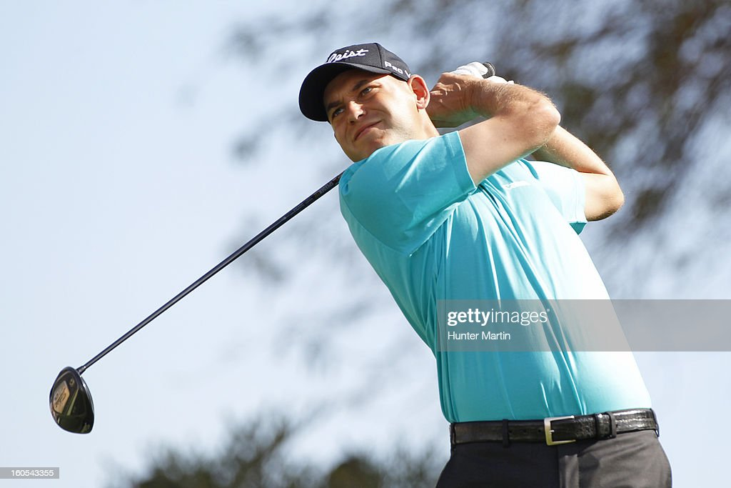 <a gi-track='captionPersonalityLinkClicked' href=/galleries/search?phrase=Bill+Haas&family=editorial&specificpeople=646978 ng-click='$event.stopPropagation()'>Bill Haas</a> hits his tee shot on the third hole during the third round of the Waste Management Phoenix Open at TPC Scottsdale on February 2, 2013 in Scottsdale, Arizona.