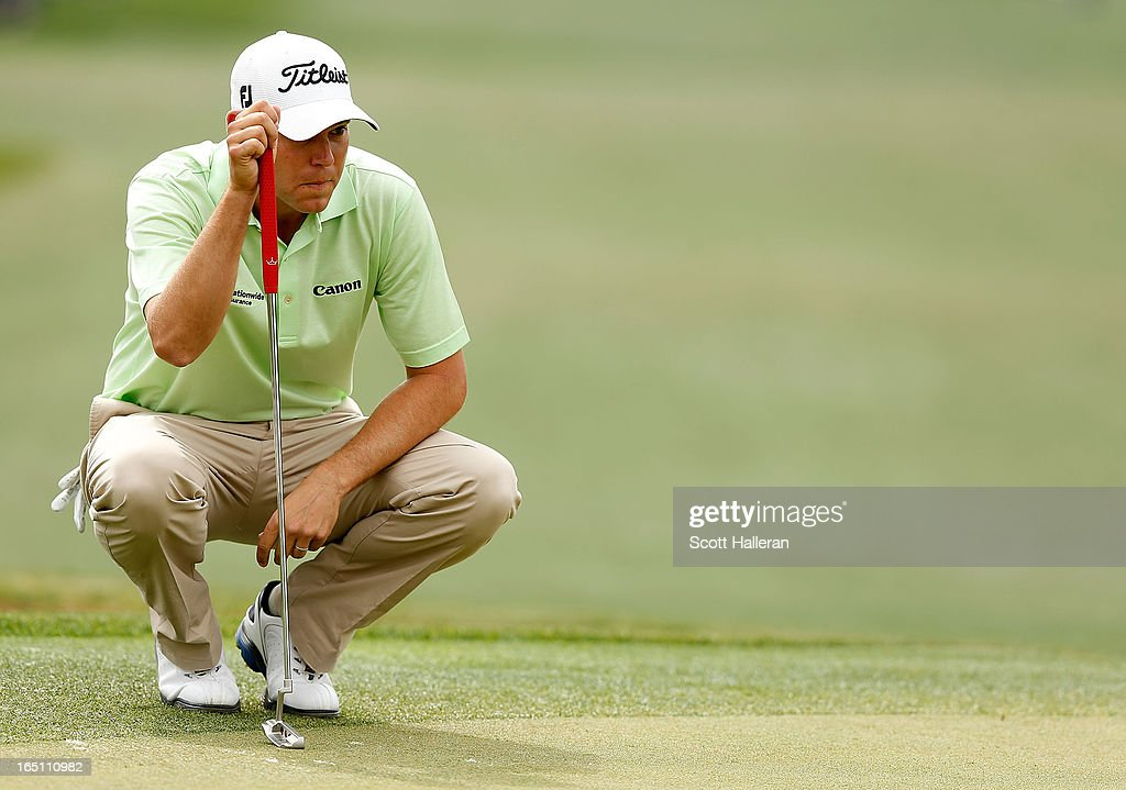 <a gi-track='captionPersonalityLinkClicked' href=/galleries/search?phrase=Bill+Haas&family=editorial&specificpeople=646978 ng-click='$event.stopPropagation()'>Bill Haas</a> looks over the 15th green during the third round of the Shell Houston Open at the Redstone Golf Club on March 30, 2013 in Humble, Texas.