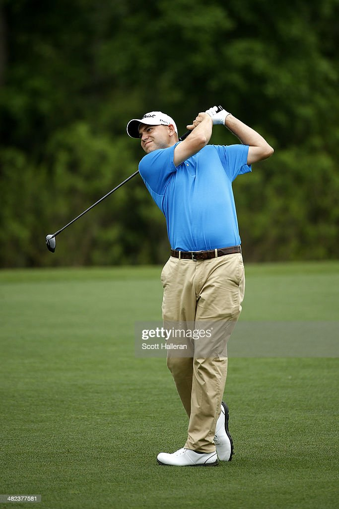 <a gi-track='captionPersonalityLinkClicked' href=/galleries/search?phrase=Bill+Haas&family=editorial&specificpeople=646978 ng-click='$event.stopPropagation()'>Bill Haas</a> of the United States plays his second shot on the eighth hole during round one of the Shell Houston Open at the Golf Club of Houston on April 3, 2014 in Humble, Texas.