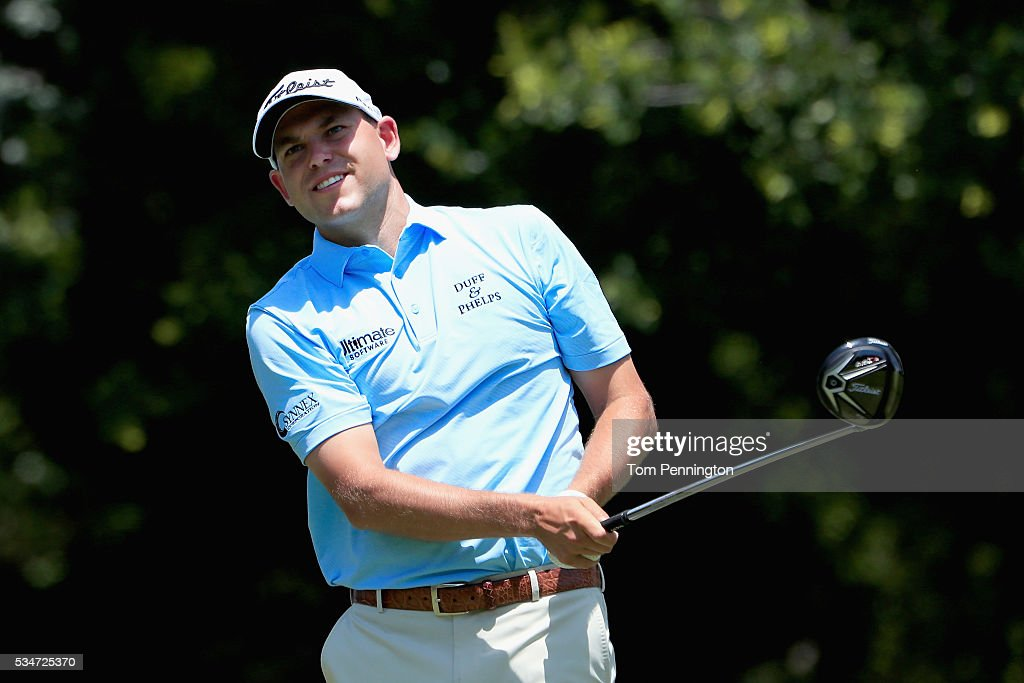 <a gi-track='captionPersonalityLinkClicked' href=/galleries/search?phrase=Bill+Haas&family=editorial&specificpeople=646978 ng-click='$event.stopPropagation()'>Bill Haas</a> plays his shot from the 12th tee during the Second Round of the DEAN & DELUCA Invitational at Colonial Country Club on May 27, 2016 in Fort Worth, Texas.