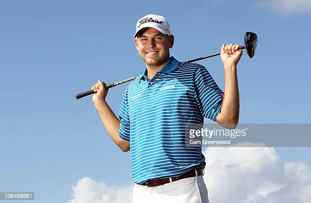 Bill Haas poses for a portrait during the proam round of the Hyundai Tournament of Champions at the Plantation course on January 5 2012 in Kapalua...