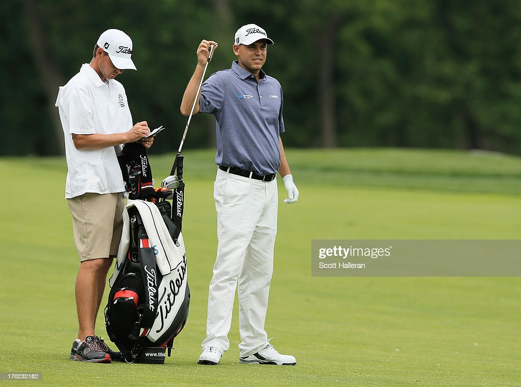 <a gi-track='captionPersonalityLinkClicked' href=/galleries/search?phrase=Bill+Haas&family=editorial&specificpeople=646978 ng-click='$event.stopPropagation()'>Bill Haas</a> pulls a club during the second round of the Memorial Tournament presented by Nationwide Insurance at Muirfield Village Golf Club on May 31, 2013 in Dublin, Ohio.