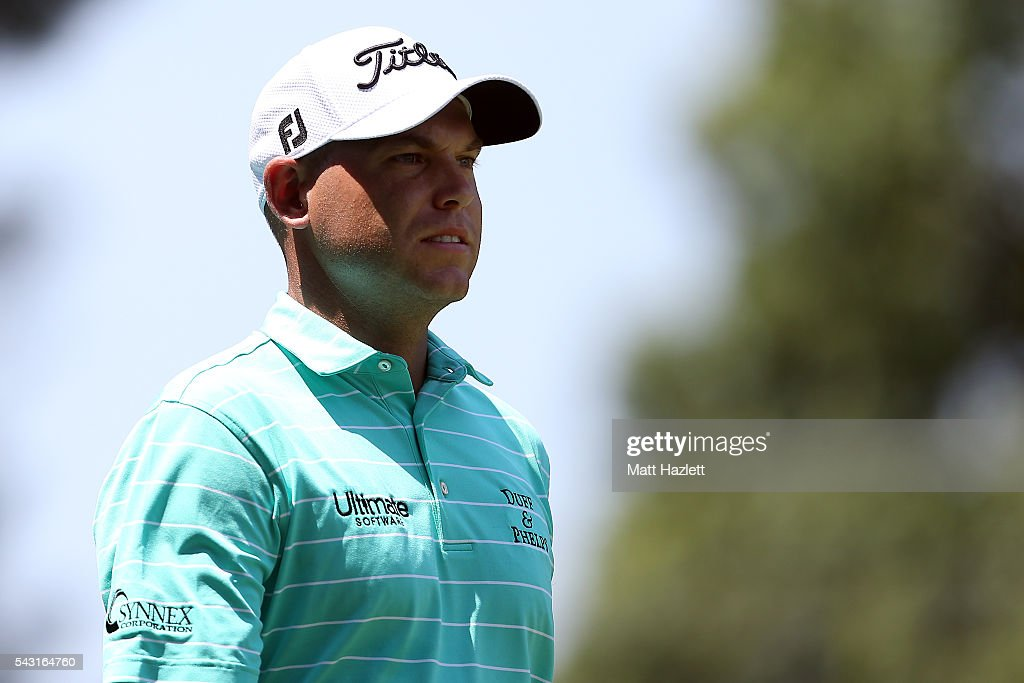 <a gi-track='captionPersonalityLinkClicked' href=/galleries/search?phrase=Bill+Haas&family=editorial&specificpeople=646978 ng-click='$event.stopPropagation()'>Bill Haas</a> walks down the fairway after playing a shot from the third tee during the final round of the Quicken Loans National at Congressional Country Club on June 26, 2016 in Bethesda, Maryland.