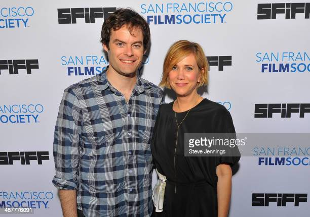 Bill Hader and Kristin Wiig attend 'The Skeleton Twins' Premiere at the 57th San Francisco International Film Festival at Sundance Kabuki Cinemas on...
