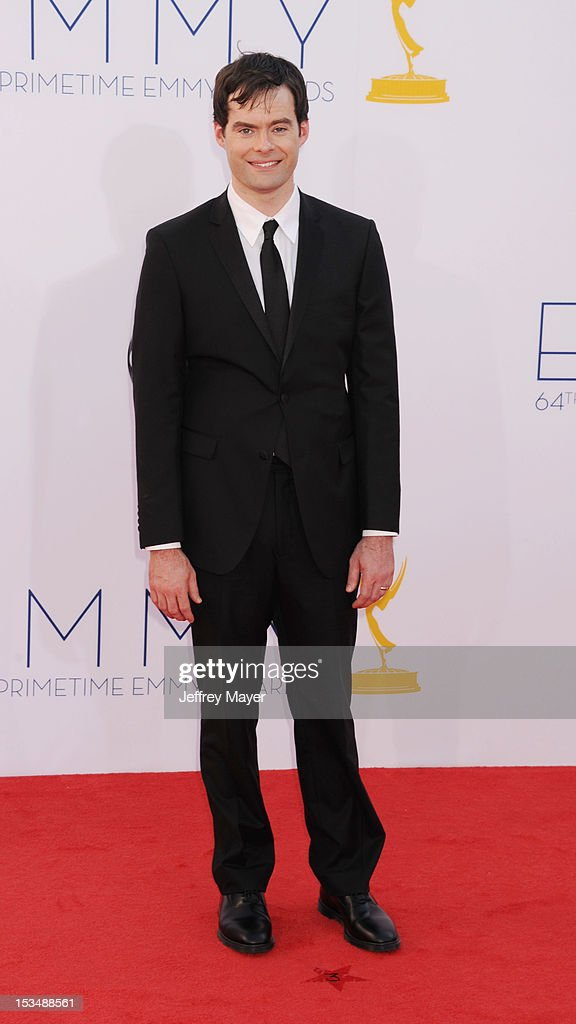 Bill Hader arrives at the 64th Primetime Emmy Awards at Nokia Theatre L.A. Live on September 23, 2012 in Los Angeles, California.