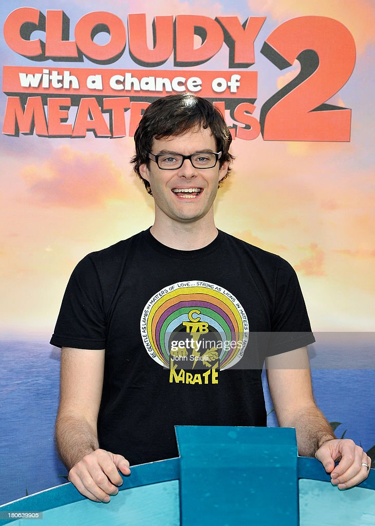 <a gi-track='captionPersonalityLinkClicked' href=/galleries/search?phrase=Bill+Hader&family=editorial&specificpeople=757145 ng-click='$event.stopPropagation()'>Bill Hader</a> attends Cloudy 2 junket photo call at the Four Seasons Hotel Los Angeles on September 15, 2013 in Los Angeles, California.