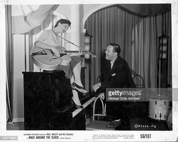 Bill Haley and Patricia Hardy in the Columbia Pictures film 'Don't Knock the Rock' in 1956 in Los Angeles California