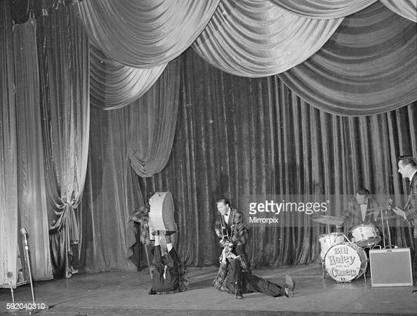 Bill Haley and the Comets on stage J86260 7th February 1957