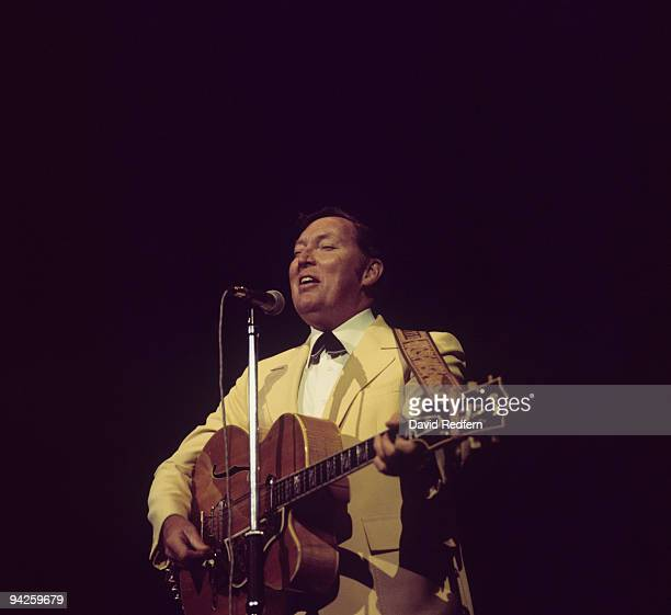Bill Haley performs on stage at the London Rock'n'Roll Show held at Wembley Stadium on August 05 1972