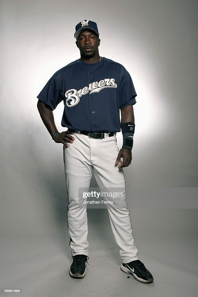 Bill Hall of the Milwaukee Brewers poses for a portrait during the Milwaukee Brewers Media Day on February 27 2006 at Maryvale Stadium in Maryvale...