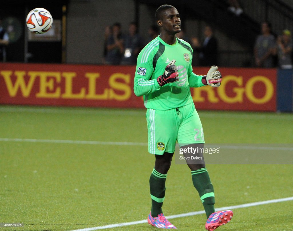 <a gi-track='captionPersonalityLinkClicked' href=/galleries/search?phrase=Bill+Hamid&family=editorial&specificpeople=4417249 ng-click='$event.stopPropagation()'>Bill Hamid</a> #28 of the MLS All-Stars celebrates at the end of the game against Bayern Munich Providence Park on August 6, 2014 in Portland, Oregon.
