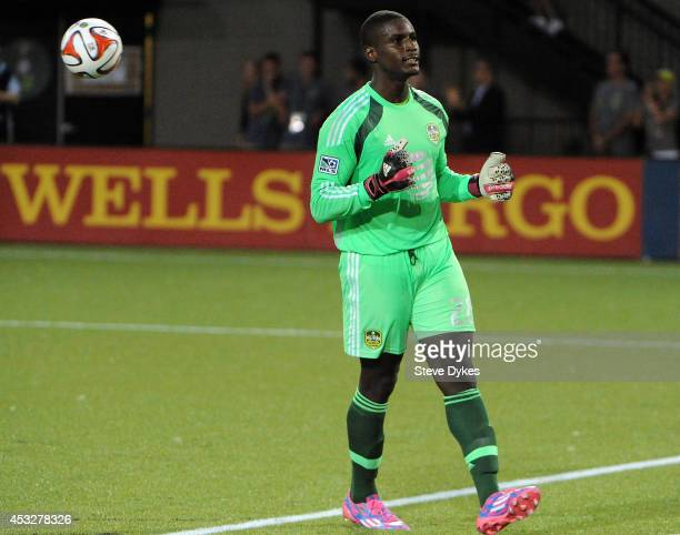 Bill Hamid of the MLS AllStars celebrates at the end of the game against Bayern Munich Providence Park on August 6 2014 in Portland Oregon